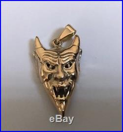 Gold 9ct Gold DEVIL STYLE' Looking Pendant lovely Detail Weight 7.11g Stamped