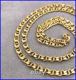 Gold Anchor Chain Italian Solid 9ct Yellow Gold Unisex Chain 55.5cm 15g Preloved
