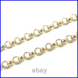 Gold Belcher Chain 9ct Yellow Gold 3mm Wide 24 Inches Solid Hallmarked 11.3g