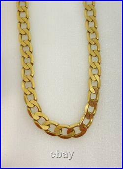Gold Curb Chain 9ct Yellow Gold Curb Link Chain 22 Inch Chain 5mm Wide Hallmark