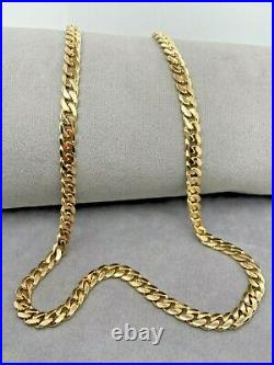 Gold Curb Chain 9ct Yellow Gold Solid Chain 61cm 31.4g Preloved