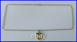 Gold Diamond Necklace 9ct Gold Diamond Heart Shape Locket Pendant & Gold Chain