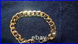 Gold Gentlemans link bracelet 9k H Samuel, 8 inches, nearly 1oz, nearly mint