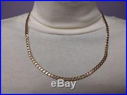 Gold curb chain hallmarked 9ct gold heavy