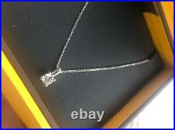 Goldsmiths 9ct gold diamond necklace