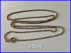 Good 22 Inches Long Strong Box Link 9ct Gold Chain Necklace