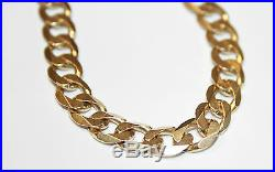 Good Quality Gents 9ct Gold Solid Curb Link Necklace Chain 20'' 27.1 grams