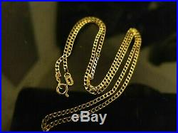 Gorgeous 9ct Yellow Gold Curb Necklace Chain. Full 9ct gold hallmark