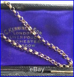 Gorgeous Vintage Yellow 9ct Gold Belcher Chain Long 9 Carat Gold Chain 22 SALE