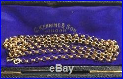 Gorgeous Vintage Yellow 9ct Gold Belcher Chain Long 9 Carat Gold Chain Xmas Gidt