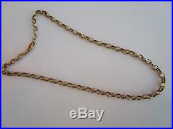 HEAVY 18.5 INCH 9ct GOLD HM LONDON PATTERNED BELCHER CHAIN NECKLACE 17.9 GRAMS