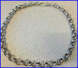 HEAVY 9ct GOLD BELCHER CHAIN 24.00 INCHES 148grams