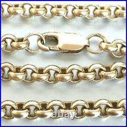 HEAVY 9ct GOLD BELCHER CHAIN SOLID 48.3g 23 1/4
