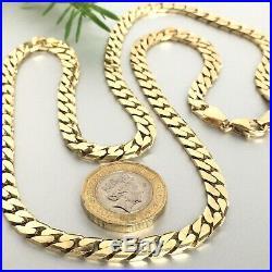 HEAVY 9ct GOLD CURB MEN'S CHAIN 39.17g 24 1/4