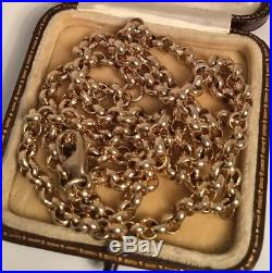 HEAVY 9ct Gold 24 Inch Solid Belcher Chain/necklace