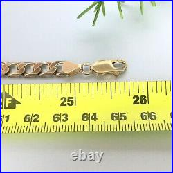 HEAVY 9ct ROSE GOLD SOLID CURB MEN'S CHAIN 25 3/4 36.6g (1.17 toz)