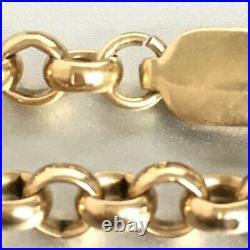 HEAVY 9ct SOLID GOLD BELCHER CHAIN 47.8G