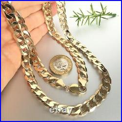 HEAVY 9ct SOLID GOLD CURB CHAIN 24 5/8 MEN'S 63.7g