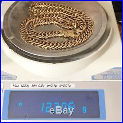 HEAVY 9ct SOLID GOLD DOUBLE LINK MEN'S IMPRESSIVE 24 3/4 CHAIN NECKLACE 123.06g