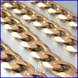 HEAVY 9ct SOLID SUBTLE ROSE GOLD MEN'S 20 3/4 CURB CHAIN NECKLACE 63.95 grams