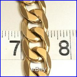 HEAVY 9ct SOLID YELLOW GOLD MEN'S CHUNKY 24 CURB CHAIN NECKLACE 160.2 grams