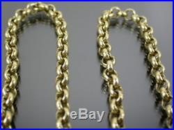 HEAVY ANTIQUE VICTORIAN 9ct GOLD BELCHER LINK NECKLACE CHAIN C. 1880 20 inch
