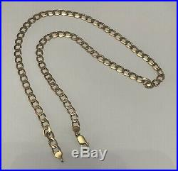 HEAVY SOLID 9ct GOLD MENS CHAIN NECKLACE. 20