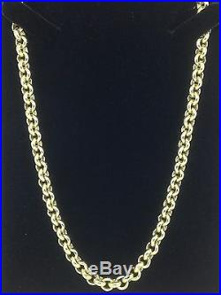 HEAVY Solid 9ct Gold Belcher Chain- 20inch 56.5g Uk Hallmark RRP £2545