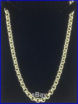 HEAVY Solid 9ct Gold Belcher Chain- 24inch 68.8g Uk Hallmark RRP £3095