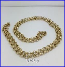 HEAVY Solid 9ct Gold Belcher Chain- 28inch 33.5g Uk Hallmark RRP £1505