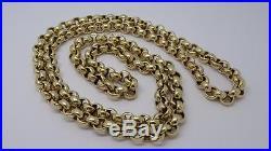HEAVY- Solid 9ct Gold Belcher Link Chain- 28 inch 98g UK Hallmarked