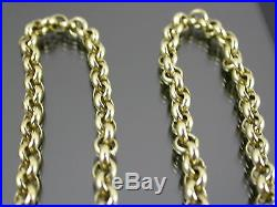 HEAVY VINTAGE 9ct GOLD BELCHER LINK NECKLACE CHAIN 21 inch