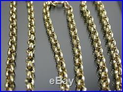 HEAVY VINTAGE 9ct GOLD BELCHER LINK NECKLACE CHAIN 25 inch C. 1950