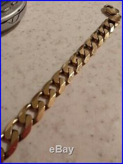 HEAVY solid 9ct Gold CURB Bracelet 8.5 36.9g 12mm