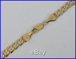 Hallmarked 18 Long 9ct Gold Mens or Ladies Curb Link Necklace Chain D1522