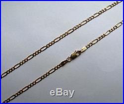 Hallmarked 2.25mm 9ct gold Figaro chain 16, 18, 20, 22, 24, 28, 30