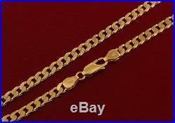 Hallmarked 9 ct Gold Curb Chain 21 RRP £925 BWZ15