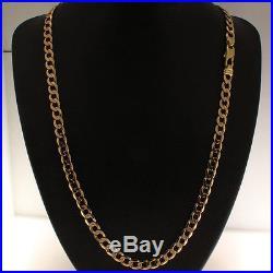Hallmarked 9 ct Gold Heavy Italian Curb Chain 21.5 RRP £1085 BWZ6