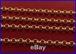 Hallmarked 9 ct Gold Solid Belcher Chain 22 RRP £610 BXQ14