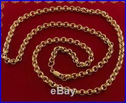 Hallmarked 9 ct Gold Solid Belcher Chain 26 42.6 G RRP £1540 BXQ15