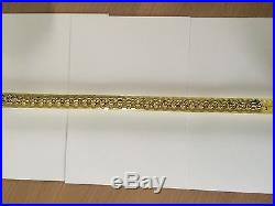 Hallmarked 9ct Gold Belcher Chain / Necklace 24 Inches 32 Grams Scrap Or Wear