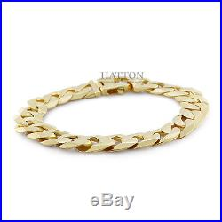 Hallmarked 9ct Gold Extra-Heavy Curb Bracelet 49.5 G 9 RRP £1990 (C176)