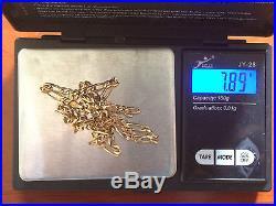 Hallmarked 9ct Gold Figaro Link Necklace 20.25 Inch (Not Scrap) 7.89g
