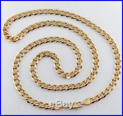 Hallmarked 9ct Gold Italian Bevelled Edge Curb Chain 24.532.2G RRP £1230 AF17