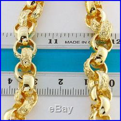 Hallmarked 9ct Gold Solid Extra-Heavy Belcher Chain 29.5 110.4G RRP £4200 (DB6)