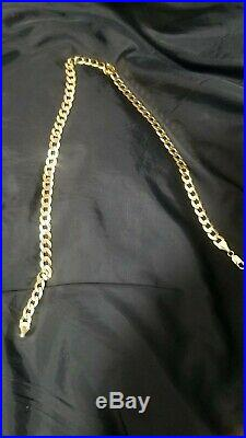 Hallmarked Heavy Solid 9ct Gold Curb Chain (30g)