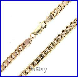 Hallmarked Heavy Solid 9ct Gold Mens Ladies Curb Link Chain Necklace 22 31.2g