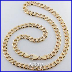 Hallmarked Solid 9ct Gold Heavy Curb Link Chain 23.5 53.8 G RRP £2050 (DJ4)