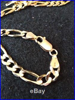 Heavy 19.8 GRAM 9ct Gold Figaro Chain/necklace- 20+1/2 inches