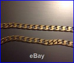 Heavy 20 Inch Solid 9ct Gold Curb Chain 47.5 Grams